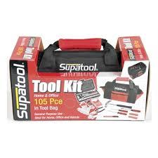 supatool 105 piece tool kit in bag