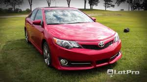 LotPro New Car Reviews - 2012 Toyota Camry SE - YouTube