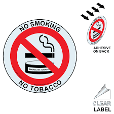 no smoking free campus clear label