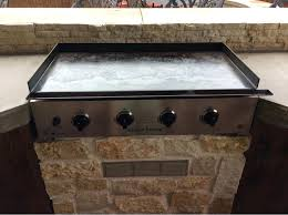 swinging outdoor built in griddle anyone cook on a propane griddle com community outdoor griddle built
