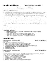 System Administrator Resume Templates Tomyumtumweb Com