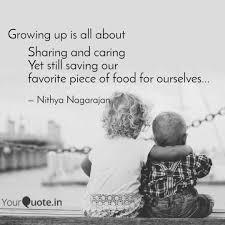 Sharing And Caring Yet St Quotes Writings By Nithya Nagarajan