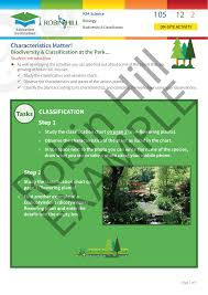 Biodiversity Classification Chart Characteristics Matter Classification Step 1 Step 2