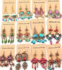 bohemian chandelier earrings bohemian dangle earrings for women girl party hot big exaggeration drop earring