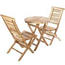 set of round table 66 cm and 2 chairs