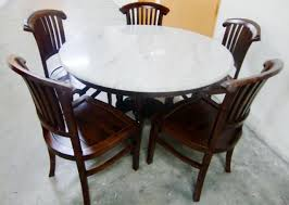 white marble round dining table ideas