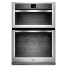 electric convection wall oven with built in microwave in stainless steel