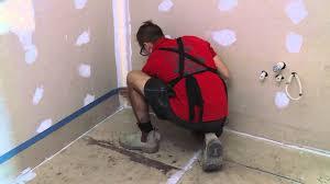 Screeding Bathroom Floor How To Waterproof Your Bathroom Floor Diy At Bunnings Youtube
