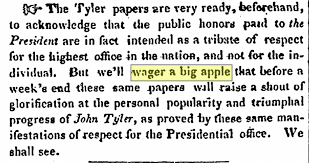 another exle from the boston daily globe is an 1891 adver which read we will wager a big red apple that the s attached to our thousand and