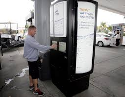 Gas Pump Vending Machine Classy TEMECULA Buy Your Drink While You Pump Press Enterprise