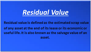 Vehicle Residual Value Chart Residual Value Examples Accounting Calculate Residual Value