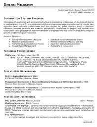 Example Of Engineering Resume Systems Engineer Resume Example Civil ...
