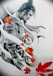 тату эскизы мужские самурай 09032019 018 Tattoo Sketches
