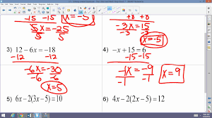 algebra 2 accelrated 3 1 solving linear equations two step and multi step equations