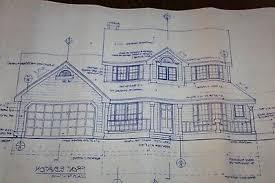 blueprint house plan 2 story 1679 sq ft