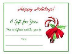 Printable Christmas Certificates Free Printable Gift Certificate Template Free Christmas Gift