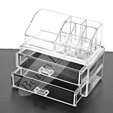 beautyland 3 layers clear acrylic cosmetic organizer drawers make up jewelry storage display organizer box lipstick