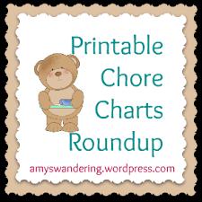 Free Printable Chore Charts Amys Wandering