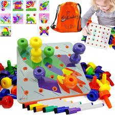 skoolzy educational toddler toys peg board creative art 1 2 3 and