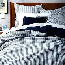 blue and white stripe duvet cover d blue and white striped duvet cover nz
