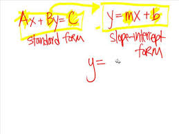 linear equations standard form to slope intercept on vimeo equation worksheet 79037684 128 slope intercept form