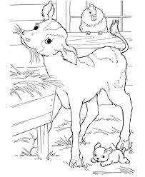Small Picture Farm Animal Coloring Pages Farm Animal Goat Eating Straw in