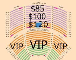 Seneca Niagara Casino Theatre Seating Chart
