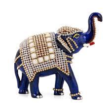 handmade metal thai elephant statue lucky animal figurine showpiece