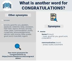 Words For Congratulations Synonyms For Congratulations Antonyms For Congratulations