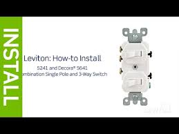 leviton presents how to install a combination device a single leviton presents how to install a combination device a single pole and a three way switch