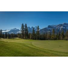 panoramic images stretched canvas art view of the silvertip golf course mount lougheed  on golf wall art canada with panoramic images stretched canvas art view of the silvertip golf