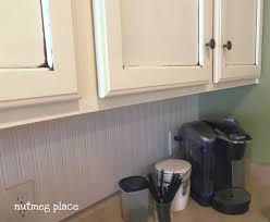 Wainscoting Kitchen Backsplash Beadboard Backsplash Using Wallpaper Mom 4 Real