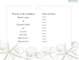 Wedding Ceremony Program Template Free Download Wedding Ceremony Program Example Funny Template Helenamontana Info