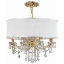 bwood 12 light chandelier crystal type shade clear hand polished smooth antique white