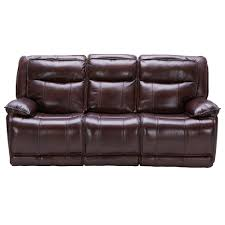 Bordeaux Burgundy Leather-Match Power Triple Reclining Sofa - K-Motion | RC  Willey Furniture Store