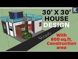5 30 x 30 3d house design 600 sq ft