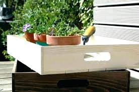 metal plant trays large personalised wooden crate planter tray window nurture cell seed starting system round