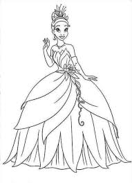 Small Picture Disney Princess Tiana Coloring Pages GetColoringPagescom