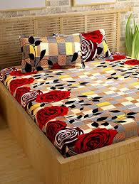 cotton bed sheets. Wonderful Bed StoryHome Candy 120 TC Cotton Bed Sheet For Double With 2 Pillow Cover To Sheets V