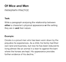 mice and men essay questions madrat co mice