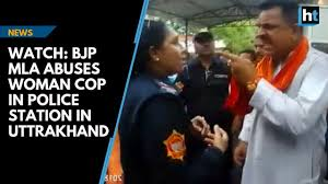 Watch Bjp Mla Abuses Woman Cop In Police Station In Uttrakhand
