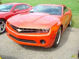 2012 Inferno Orange Metallic Chevrolet Camaro LS Coupe #53917895 ...