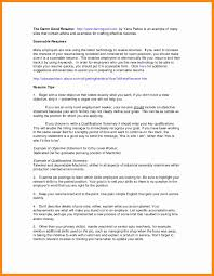 Resume Examples With No Work Experience Best Of Job Qualifications