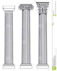Doric Ionian And Corinthian Stock Vector Illustration Of