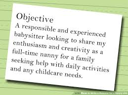 how to write a resume for a nanny job   stepsimage titled write a resume for a nanny job step