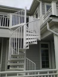 ... Alluring Home Interior Design With Various Wrought Iron Spiral Staircase  Kit : Comely Picture Of Outdoor ...