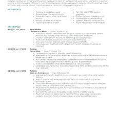 Fine Dining Server Resume Serving Resume Template Concessions Server Resume Resume Cover