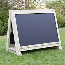 toddlers outdoor chalkboard wooden floor easel large tts school resources