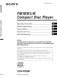 sony cdx gtw wiring diagram wiring diagram and schematic design sony cdx fc214 support sav datildecopypannage notices manuels