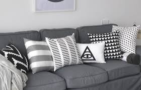 pillows for grey couch. Beautiful Couch Striped Black And White Decorative Pillows For Grey Couch Geometric Sofa  Cushion And Pillows For Grey Couch H